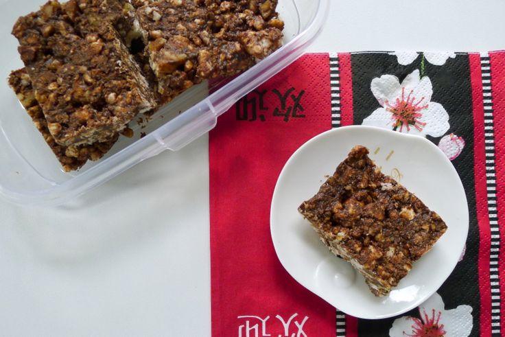 Ken je ze nog, die chocolade rijstkoekjes? Ik heb een gezonde versie gemaakt. Nip-Cons: Lowcarb, tarwevrije, glutenvrije (en evt. notenvrije) carob rijstkoekjes