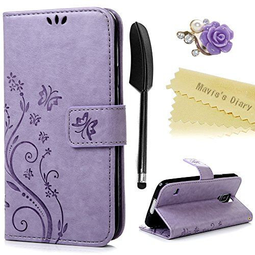Galaxy S5 Case ,Galaxy S5 Neo Case - Mavis's Diary PU Leather Wallet Flip Cover Magnetic Closure Bumper Case [Butterfly & Flower Embossed] with Card Slots & Stand + Purple Flower Dust Plug + Black Feather Touchscreen Stylus for Samsung Galaxy S5 / Samsung Galaxy S5 Neo - Violet #Galaxy #Case #,Galaxy #Mavis's #Diary #Leather #Wallet #Flip #Cover #Magnetic #Closure #Bumper #[Butterfly #Flower #Embossed] #with #Card #Slots #Stand #Purple #Dust #Plug #Black #Feather #Touchscreen #Stylus…