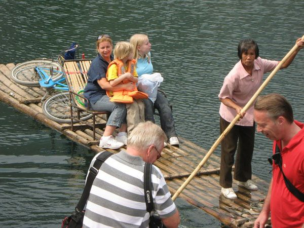 #Li River #Bamboo Rafting Tour: Enjoy the most beautiful part of Li River that is the round trip Yangdi motorized bamboo rafting goes from Yangdi to Xingping River,Nine Horse Mural Hill on a 6 seat bamboo raft.  http://www.holidaychinatour.com/tour_view.asp?id=273