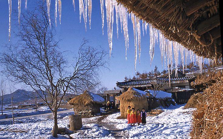 During de winter of 1956-57 in Uijong-bu, Seoul_ South Korea