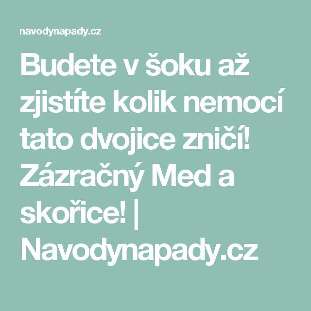 Budete v šoku až zjistíte kolik nemocí tato dvojice zničí! Zázračný Med a skořice! | Navodynapady.cz