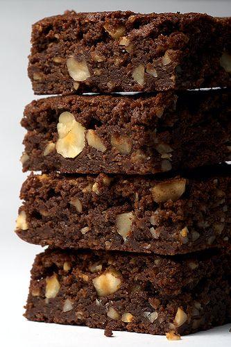 Gianduia Brownies from Bake or Break --- chocolate, Nutella, and hazelnuts