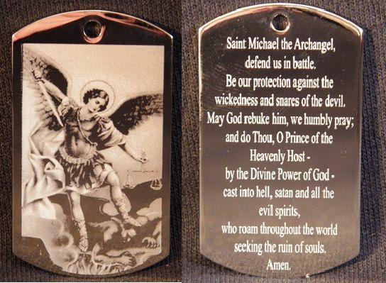ST MICHAEL The Archangel Prayer Engraved Pendant by EngravingYou, $9.99