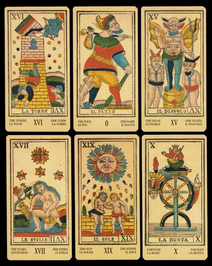 NEU Antike Tarots Ligurien Piemont Stil des Antiken Marseiller Tarot 1860