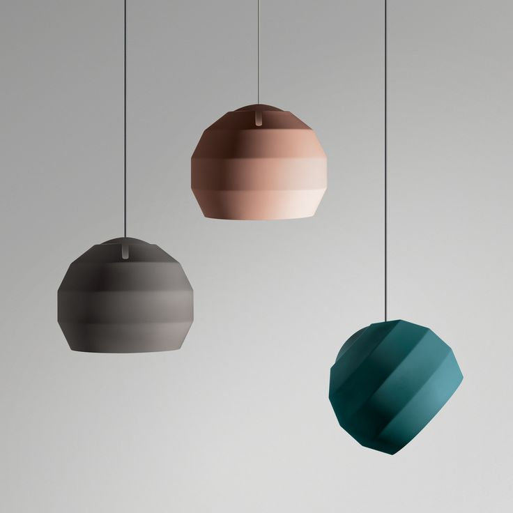 Handmade in the UK, the Pitch Pendant lamp comprises a banded spun aluminium shade poised on an internal dome, the outer shade can be posed to guide light in an