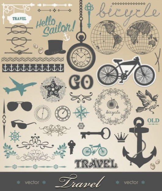 freebies #3 | Vintage vectors | Graphic Inspiration | Inspiration of graphic design, typography, design, photography, illustration, web desi...