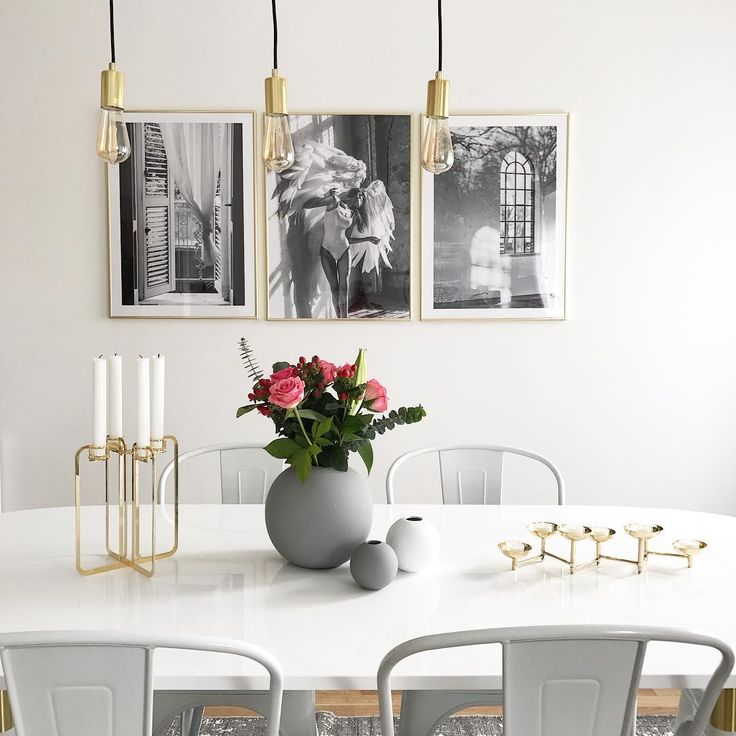 Golden Quartet candelabra in dining room / Photo by @100kvadratmeter