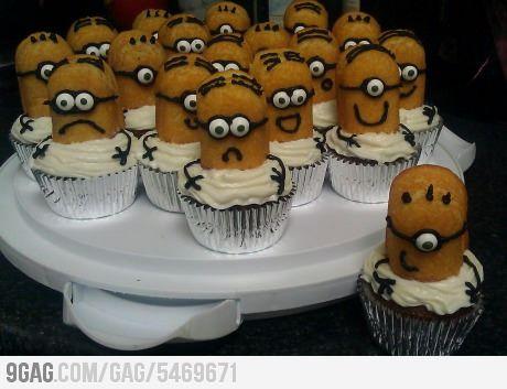 Homemade Despicable Me Cupcakes