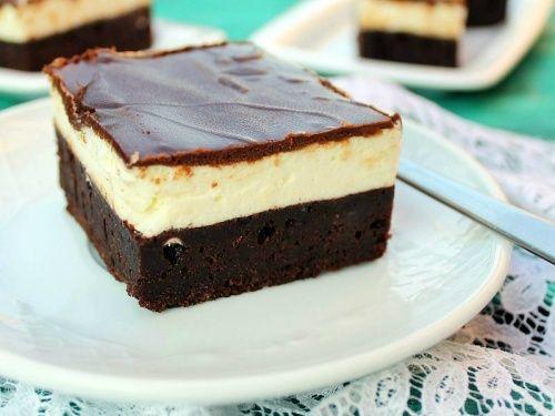 Negresa cu mascarpone si glazura de ciocolata - imagine 1 mare