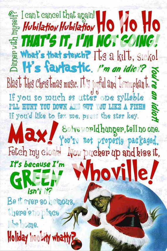 Jim Carrey's Grinch who stole Christmas by KamisDigitalCreation, $5.00 How fun is this!!