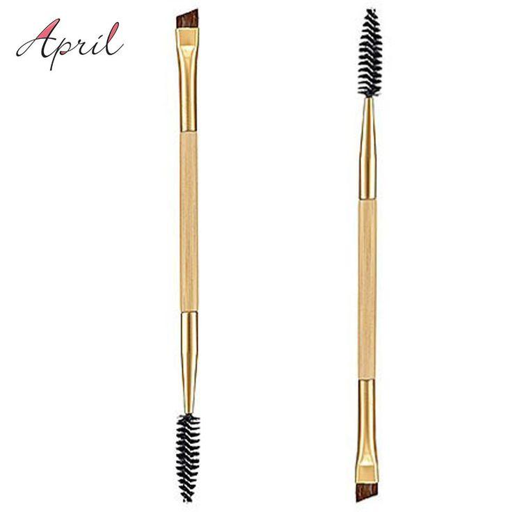 1PCS Double Ends Makeup Tools Bamboo Brushes Eyelash Lashes Blending Eye Brush Mascara Cosmetic Eyebrow Comb Make up Maquiagem