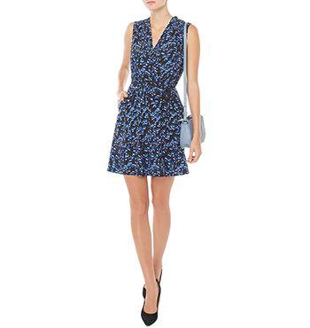 marcs silk animal dress - Google Search