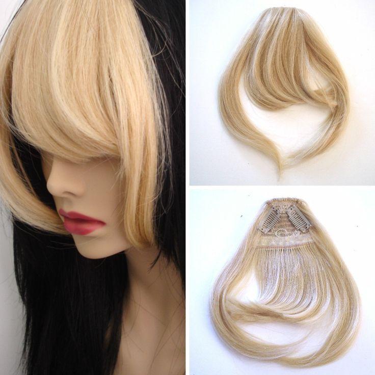 Anytime Collection Human Hair Bangs/Fringes - 613 Platinum Blond at I Kick Shins