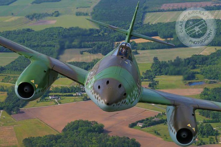 A restored Messerschmit Me-262, by Classic Aircraft Photography