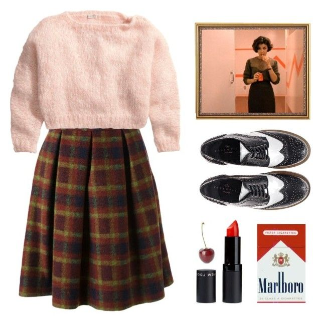 """""""Audrey Horne"""" by sadiesyn ❤ liked on Polyvore featuring Stella Jean, H&M and Essentiel"""