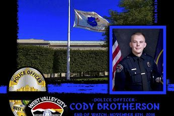 Police Officer Cody Brotherson was struck and killed by a vehicle that was involved in a vehicle pursuit.   http://www.lawenforcementtoday.com/in-memoriam-police-officer-cody-brotherson/