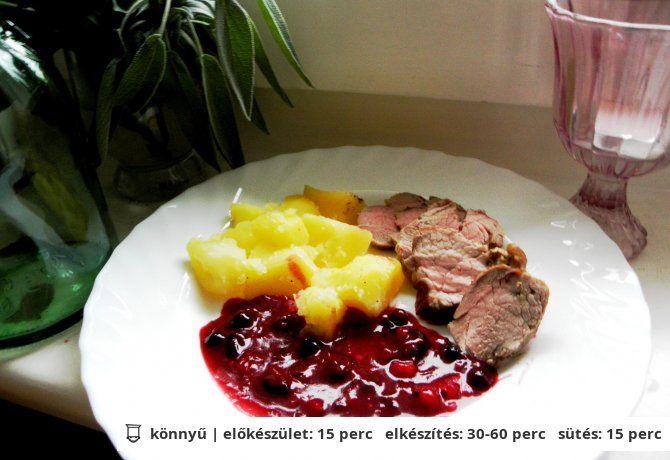 Sertésszűz pecsenye erdei gyümölcsszósszal | NOSALTY – receptek képekkel