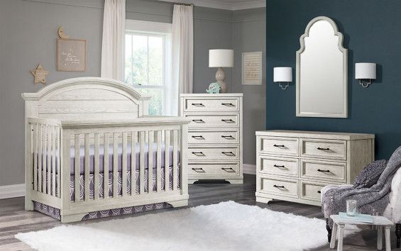 Westwood Foundry 3 Piece Arched Crib Nursery Set In White Dove Beautiful Furniture Pieces Cribs Nursery Set 3 piece crib set furniture