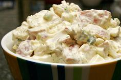This recipe for potato salad is dressed with a full-flavor mayonnaise dressing. It's a tasty red potato salad, perfect for any summer event.