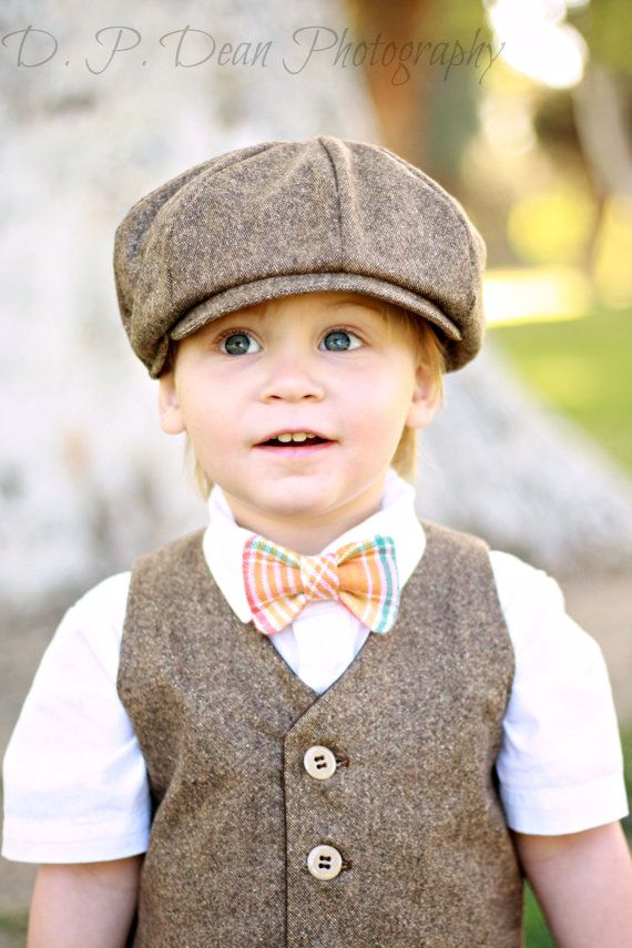 Ring bearer outfit - baby suit - tweed - baby ring bearer - brown ring bearer - wool vest - baby boy photo prop - boy prop - toddler outfit.