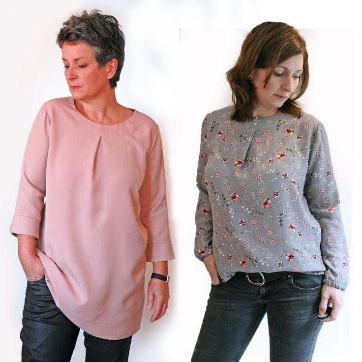 Das Blusenshirt Kim_B ist genauso easy zu tragen, wie es genäht wird. Das Schnittmuster enthält mehrere Nähvarianten und ist ideal für Anfänger.