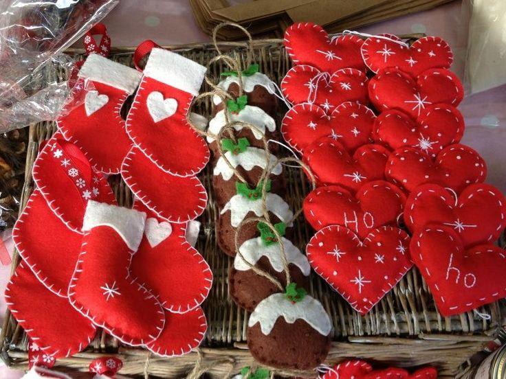 Handmade decorations at Altrincham Market