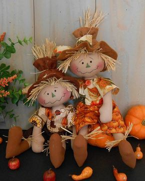 Harvest Scarecrow Raggedy Doll # 83 PDF e Pattern Fall Primitive Folk Art Sewing…