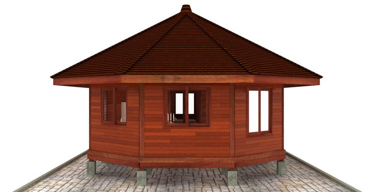 Octagonal Floor Plans: Teak Bali both designs and fabricates custom Wood Homes. Even though we can take your existing designs to our structural Hardwood Building protocols, we actually prefer to design from scratch so we can be in on your Custom House project from the ground floor.