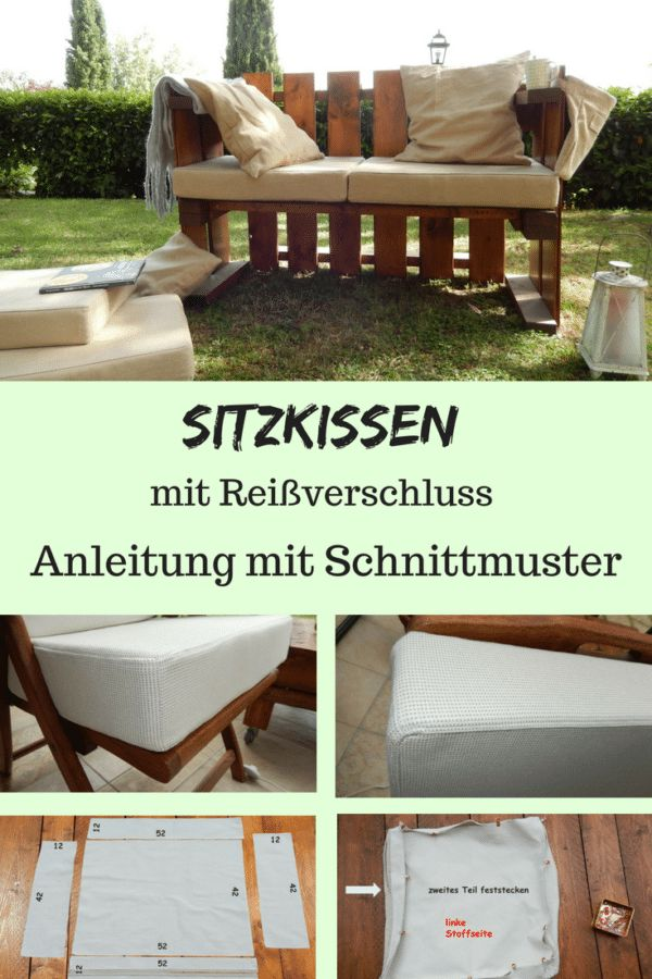 Sew seat cushion with zipper by yourself   – sitzkissen
