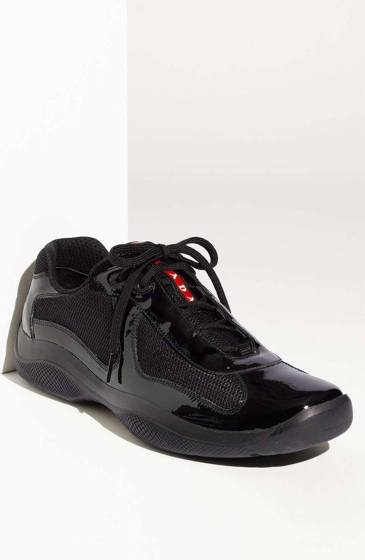 Prada | 'America's Cup' Mesh & Leather Sneaker (Men)