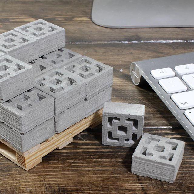 Miniature Cinder Blocks and Mini Construction Materials