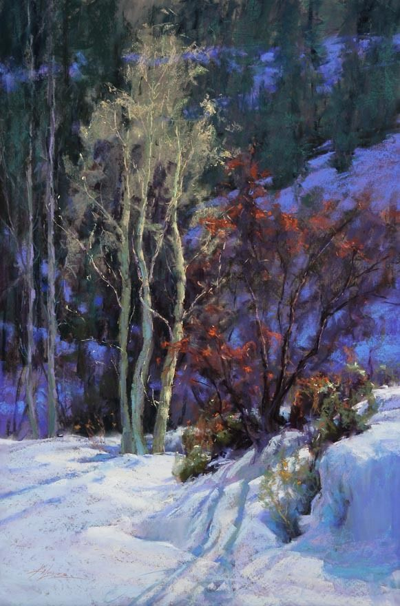Winter's Tapestry by Kim Lordier Pastel ~ 36 x 24