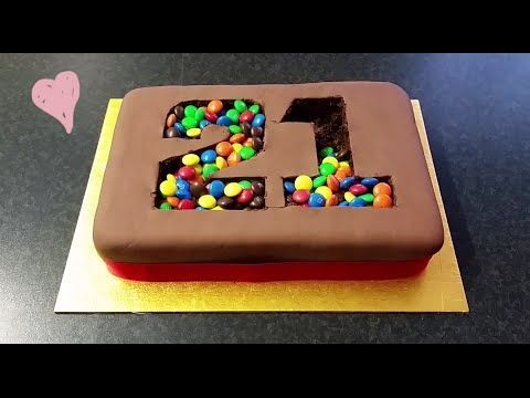 """M&M Kuchen Verzierung Tutorial - WAHNSINN!! *** """"M&M Madness!"""" Birthday Cake"""