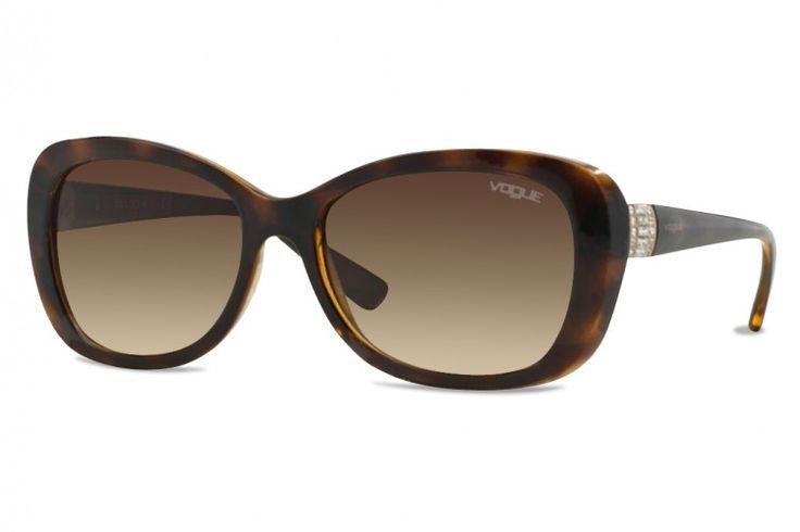 Chez Gweleo, opticien en ligne, Nouveauté, Lunettes de soleil Vogue VO 2943SB-W65613-55 mm (Dark Havana) Brun dégradé pas cher