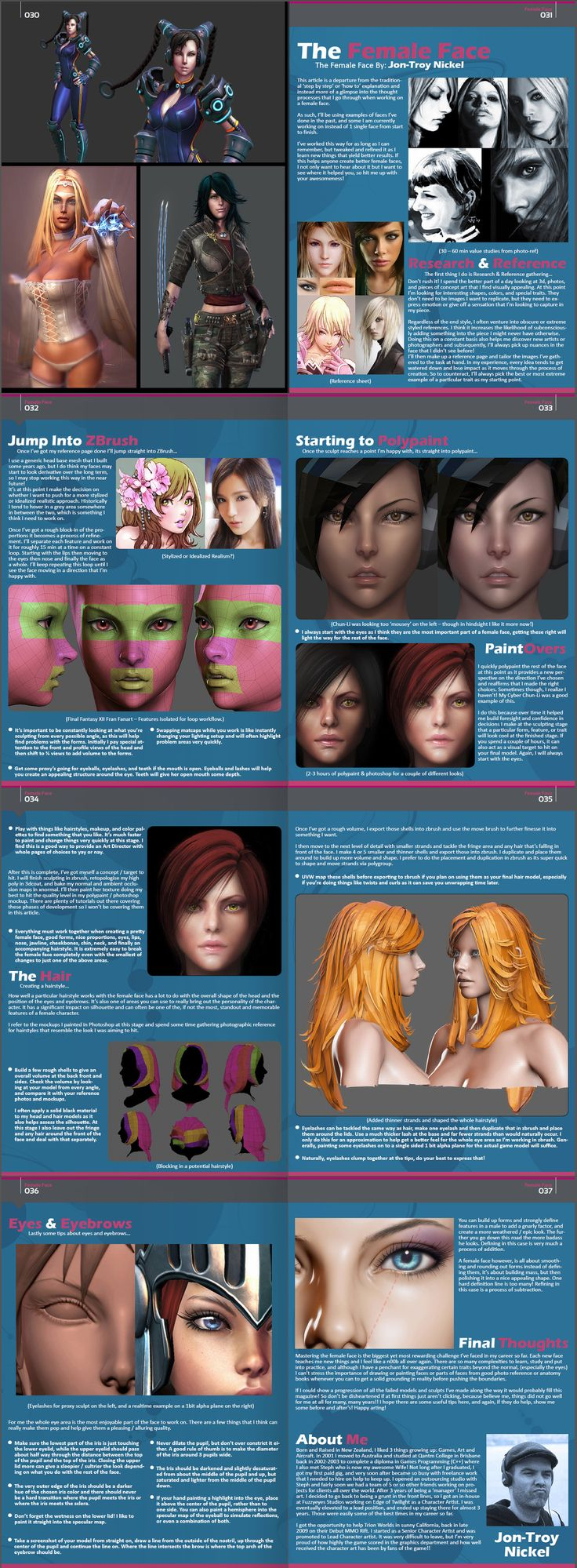 Female Face Tutorial by `HazardousArts on deviantART