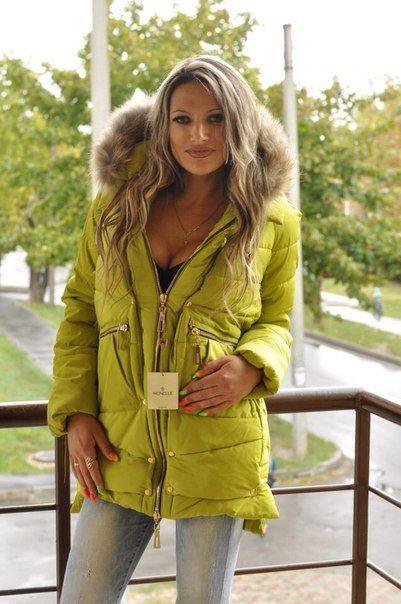 Зимняя куртка парка оливка