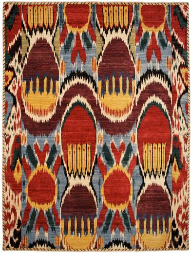 feeding my growing Ikat obsession...love this rug