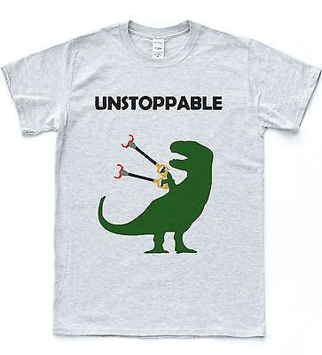 Unstoppable T-Rex T-shirt Funny Drawing Dinosaur Tee Dino Nature Animal Top in…