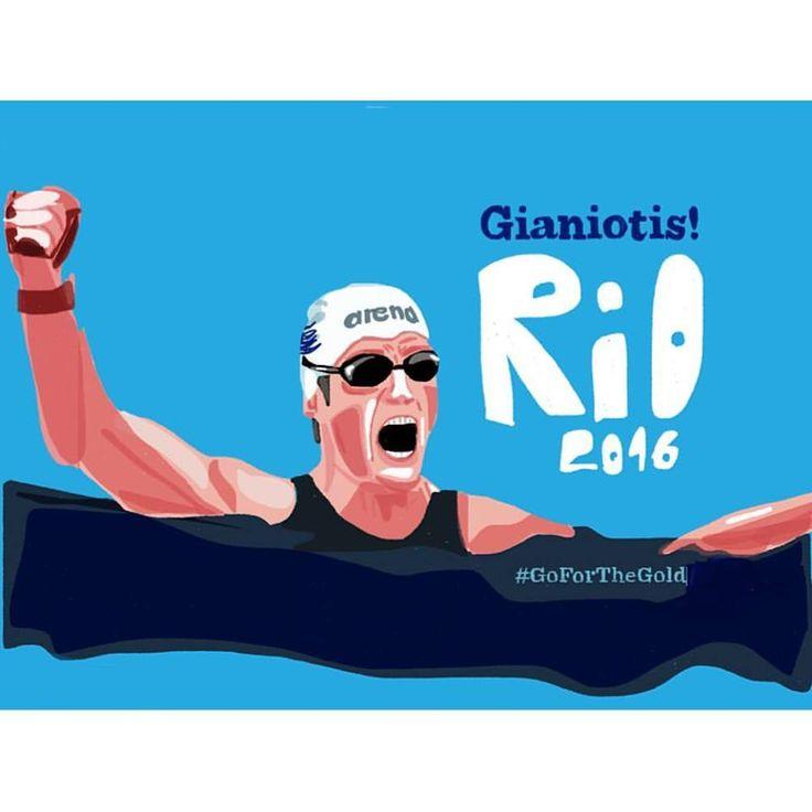 Spiros Gianniotis | Open Sea Swimming Marathon Silver Medalist  #TeamHellas_RIo2016 #OlympicGames2016