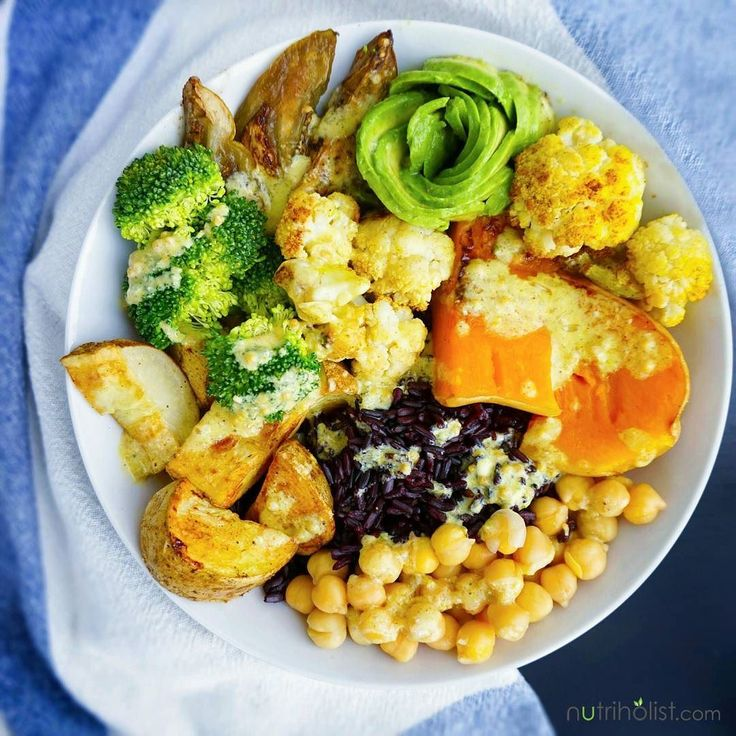 I thoroughly enjoy eating an abundance of plant-based meals such as Buddha bowls  The rule of thumb is filling your plate with lots of raw baked or steamed vegetables whole grains and plant-based protein. What I have over here is crispy baked potatoes roasted eggplant butternut squash and cauliflower steamed broccoli half an avocado black rice and chickpeas. Drizzled it with a TURMERIC TAHINI HEMP DRESSING that took the meal to a whole new level of deliciousness. Here's the recipe for the…