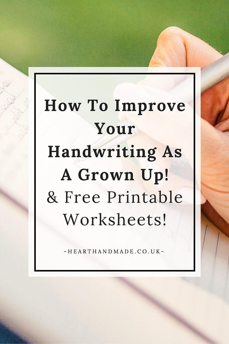 How To Improve Your Handwriting As A Grown Up! & Free Printable Worksheets! // by Heart Handmade Co.