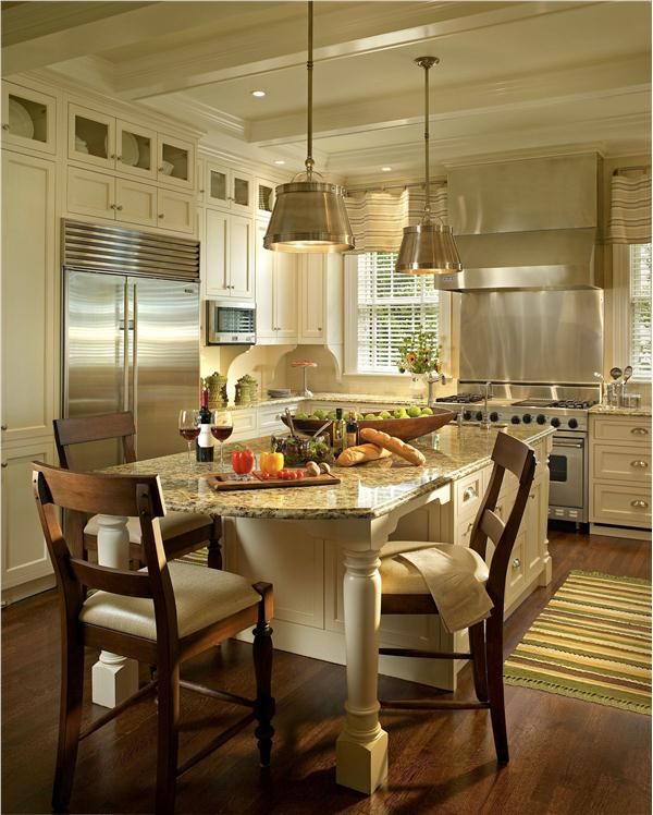 Kitchen Classical Colonial Kitchen Design With Island For: Traditional (Victorian, Colonial) Kitchen By Juliana