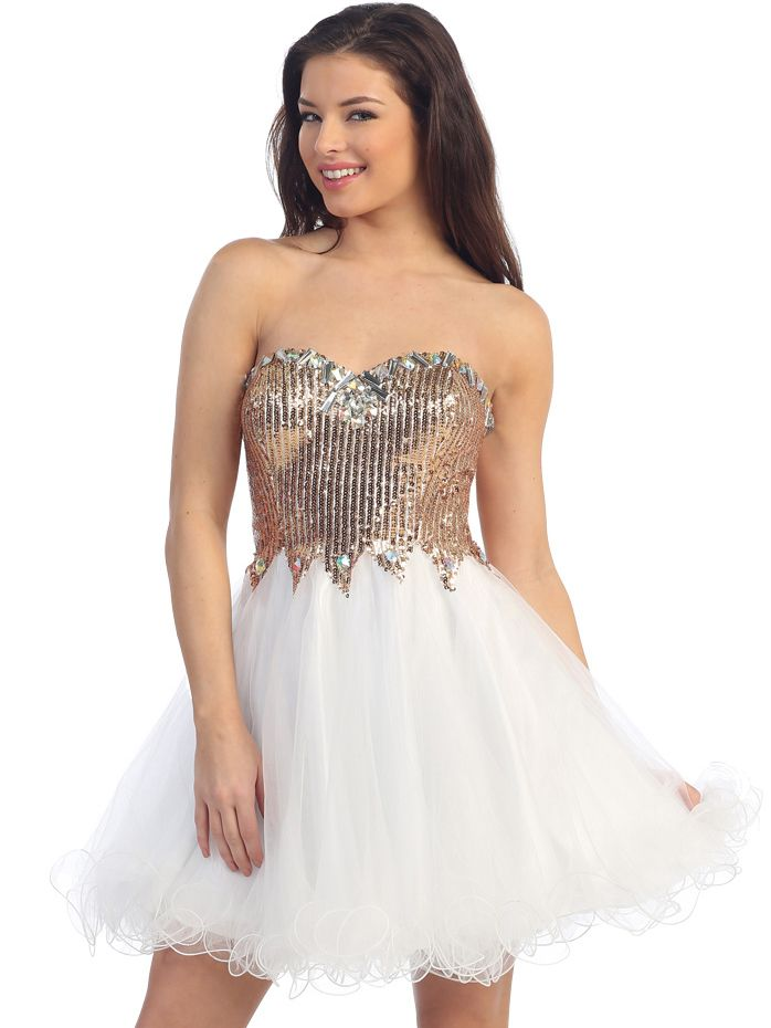 Sparkling Top Short Winter Formal Dress. Dreamy and Whimsical. Get yours today at www.SungBoutiqueLA.com
