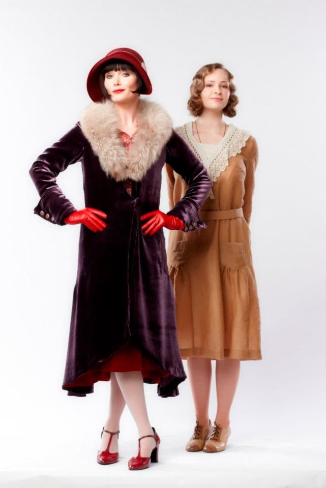 "Essie Davis (and Ashleigh Cummings) in ""Miss Fisher's Murder Mysteries"" This coat is GORGEOUS! Description from pinterest.com. I searched for this on bing.com/images"