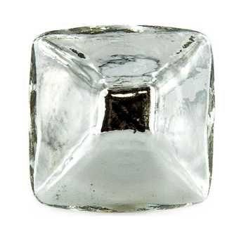 silver glass diamond shape knob cabinet and drawer
