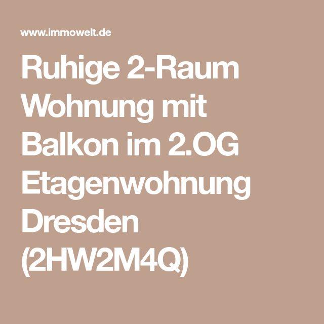 Ruhige 2-Raum Wohnung mit Balkon im 2.OG Etagenwohnung Dresden (2HW2M4Q)