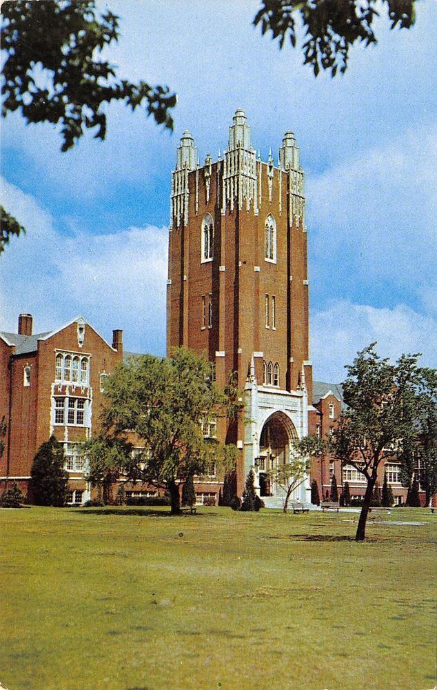 Oklahoma City University~Main Hall~Methodist College~1960s Postcard