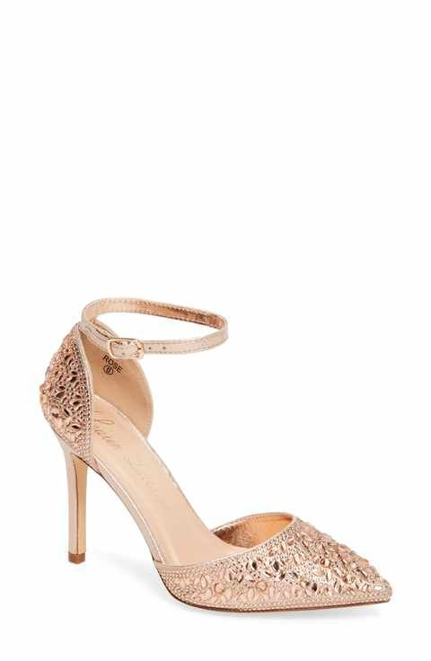 f3afc666caf Lauren Lorraine Rose Crystal Embellished d Orsay Pump (Women ...