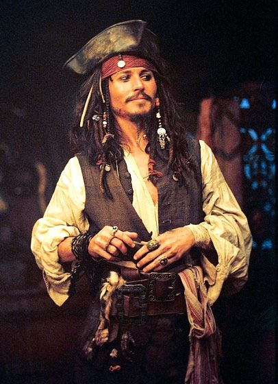 "Pirates of the Caribbean  The quirky actor's highly acclaimed performance as the pirate Jack Sparrow in the 2003 film was a product of Depp's own creativity. ""I was reading about the 118th century pirates and thought they were kind of like rock stars,"" he tells The Los Angeles Times. ""So, when I thought, 'Who is the greatest rock 'n' roll star of all time?"" Keith Richards of The Rolling Stones!"