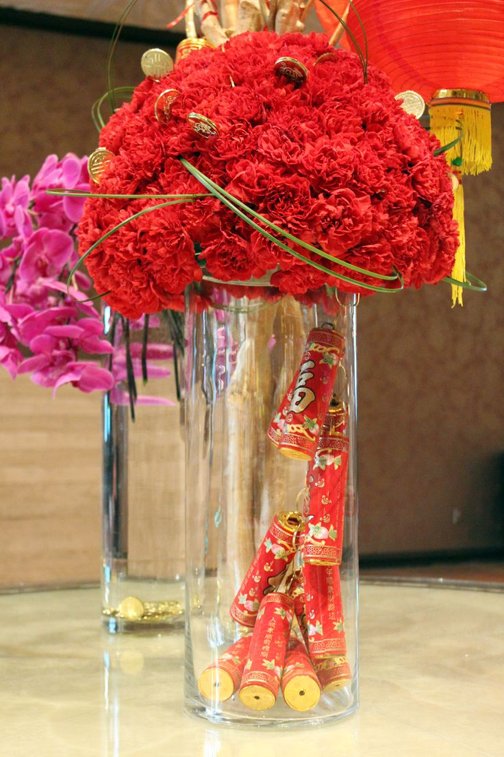 Chinese New Year Year of the Goat Floral Arrangement Firecrackers, Mandalay Bay Las Vegas February 2015 @mandalaybay | www.gustoandgraceblog.com
